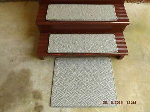 """13- 9""""x 27"""" Indoor Stair Treads 100% Woven Wool Landing 20x25"""