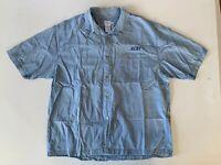 Calvin Klein CK VTG 90's Mens Denim Shirt Short Sleeve Button Down Jean EUC XL