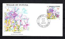 Wallis et Futuna  enveloppe 1er jour   fete des meres  fleur orchidées 1990