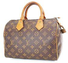 Authentic LOUIS VUITTON Speedy 25 Monogram Boston Handbag Purse #37399