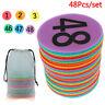 48Pcs 1-48 Number Spots Markers ClassroomCarpet Signs Floors Dots Circle Mark_ne