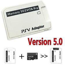 V5.0 SD2VITA PS Vita Memory Card Adapter for PS Vita Game Card 3.60 System New