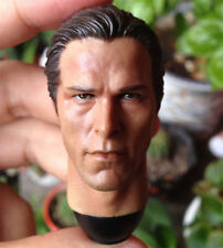 "1/6 scale Toy Head Sculpt BATMAN Bruce Wayne Christian Bale Fit 12"" figure"