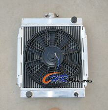 For 3 ROW DATSUN 1200 B110 A12/T 1970-1976 71 Aluminum Radiator & FAN