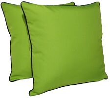 "D&M Polyester 18""x18"" Indoor/outdoor Decorative Throw Pillow, set of 2, Green"