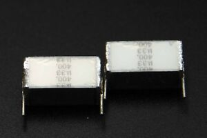 5 pcs / 1 lot - Genuine Siemens EPCOS - Silver Cap - 330nF / 0.33uF - 400VDC