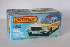 Repro Box Matchbox Superfast Nr.56 Mercedes 450 SEL Taxi