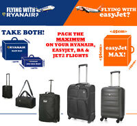 RYANAIR EASYJET BRITISH AIRWAYS BA MAX Hand Cabin Luggage Case 55x40x20 56x45x25