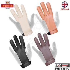 ARCHERS LEATHER 3 FINGER Right&Left Hand Glove,BLACK,BROWN,BEIGE,DARK BROWN