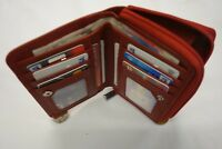 Top Quality Ladies Leather Purse Wallet Organiser Red Large Coin Pocket RFID