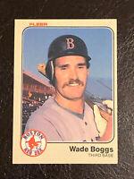 1983 Fleer Wade Boggs Card #179 NM HOF Boston Red Sox