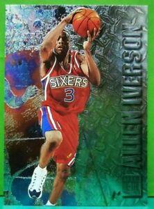 Allen Iverson rookie card 1996-97 Fleer Metal #201