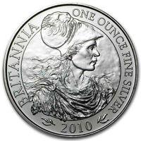 New 2010 UK Great Britain Silver Britannia 1oz Bullion Coin In Mint Plastic Seal