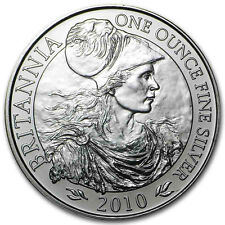 New 2010 UK Great Britain Silver Britannia 1oz Bullion Coin (In Original Seal)