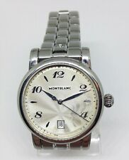 Men's MONTBLANC Meisterstuck Quartz Watch. 39mm. Silver Dial. Date. WR 30M