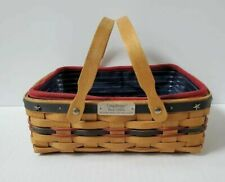 Longaberger Proudly American 2004 Bee Basket Liner Protector Set Signed