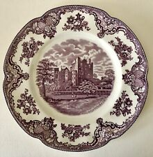 "Vtg Johnson Bros Old Britain Castles 10"" Dinner Plate Blarney Purple Lavender"
