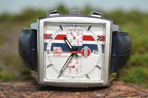 Tag Heuer Monaco Vintage Gulf Automatik white dial, Box und Papiere Ref CW2111-0