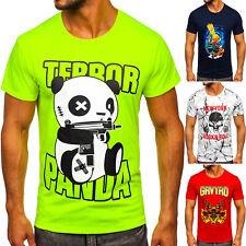 T-Shirt Kurzarm Rundhals Tee Slim Fit Sport Print Motiv Herren Mix BOLF Aufdruck