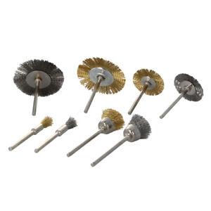 32/24Pcs Brass Steel Wire Brush Polishing Wheels Full Kit for Dremel Rotary Tool