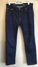 J Crew Womens Jeans Matchstick Dark Wash Denim Straight Leg Regular 26