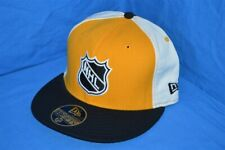 NHL HOCKEY PITTSBURGH PENGUINS YELLOW BLACK NEW ERA WOOL FITTED HAT CAP 7 3/8
