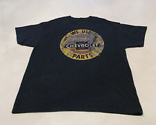 VTG Style Men's T-Shirt sz XL GM We Use Genuine Chevrolet Parts Chevy Navy Tee
