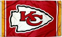 NEW Kansas City Chiefs Flag with Arrowhead Large 3'X5' NFL FREE SHIPPING!!