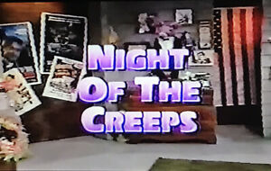 Commander USA Night Of The Creeps VHS Sold As Blank Commercials Horror Host 80's