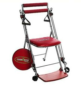 Chair Gym Total Body Exercise System & DVDs In  Red (RRP£125)