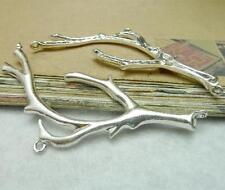 10pcs Fashion Tree Branch Connector Charm Vintage Silver Pendants 32*78mm P209