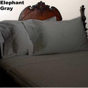 1200 TC EGYPTIAN COTTON PREMIUM BED SHEET SET STRIPED ALL COLORS & SIZES