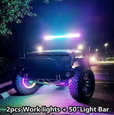 "fiacarlighting 50""288W CREE LED Chaser Light Bar + 2PCS 12W Chaser Work Lights"