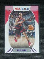 2020 Panini NBA Hoops KRIS DUNN #62 PURPLE FOIL WINTER PARALLEL Chicago Bulls