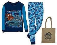 Disney Little Boys' Cars 2 Finn McMissle & Mater Pajama Set & Tote -3 Piece Set