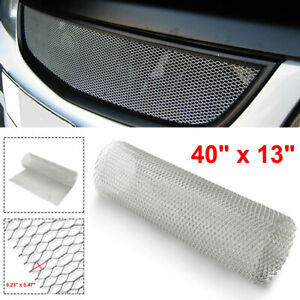 Chrome Aluminum Car Front Hood Vent Grille Net Mesh Grill Section Accessories