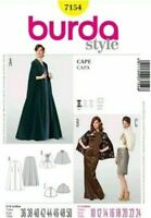 Burda 7154 Misses' Long and Short Capes Sewing Pattern Size 10-24, Uncut, FF