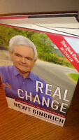 """Newt Gingrich Signed Book! """"Real Change"""""""