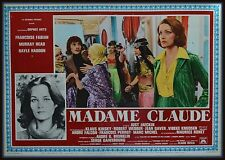 fotobusta MADAME CLAUDE  KLAUS KINSKY FRANCOISE FABIAN HEAD HADDON  WEBBER