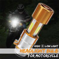 H6M/PX15D 3 COB LED ATV Motorcycle Headlight Hi/Lo Beam Light Bulb 18W 1500LM
