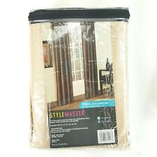 Stylemaster Tribeca 56x63 Inch Faux Silk Grommet Panel Curtain Sand Color NEW