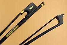 8pcs PRO New Carbon fiber cello bow 4/4 size Ebony Frog inlaid copper flower