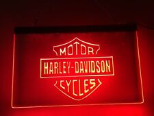 Harley Davidson Motorcycle LED Wall Plaque Sign Man Cave 8 x12 in. Garage Gift