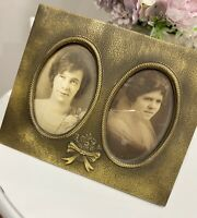 "VINTAGE BAROQUE ORNATE GOLD GILT WOOD PICTURE FRAME OVAL Photo Frame 9x7""French"