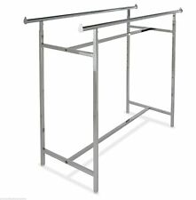 """Double Rail Retail Display Rack with Adjustable Height 48""""-72"""" 