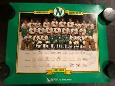 1983-84 Minnesota NORTH STARS HOCKEY Team Vintage POSTER Bellows autographed
