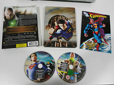 SUPERMAN RETURNS 2 X DVD STEELBOOK + CUBIERTA + COMIC CASTELLANO ENGLISH