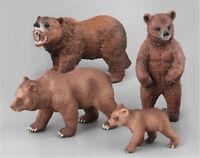 PVC Animals Polar Bear Static Model Action Figures Kids Educational Toys Gift FO