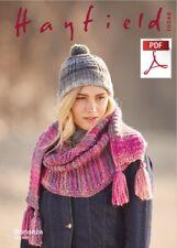 Hayfield Bonanza chunky knitting pattern Hat / Scarf  10048