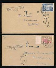 GOLD Coast a causa di Spedizione in GB 3d + 4d suscettibili di Lettera Tasso 1955 Scozia